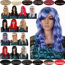 Women Ladies Long Full Wig Straight Curly Fancy Dress Wigs Play Costume Party #X