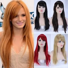 Women's Wigs With Bangs Natural Curly Wave Straight White Grey Black Brown Wig G