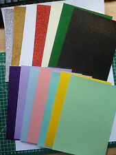 50 x A6 sheets quality Glitter card  220 gsm 21 lovely colours