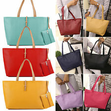 hot Designer Large Womens PU Leather Tote Shoulder Bag Handbag Ladies Messenger