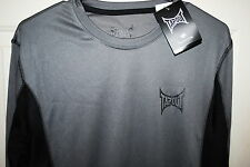 TAPOUT MENS LEGACY II LONG SLEEVE ATHLETIC SHIRT COLOR GRAY/BLACK 5 SIZES NWT
