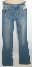 Womens AEROPOSTALE Skinny Boot Destroyed Light Wash Jeans NWT #2015