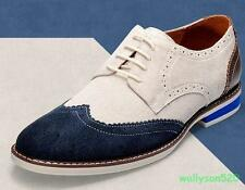 Mens Oxfords Brogue lace up Casual Dress Formal Wing Tip Shoes dress  shoes