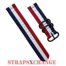 PREMIUM PVD ZULU® 2 Piece PATRIOT Military Divers watch strap band Nylon 3Ring