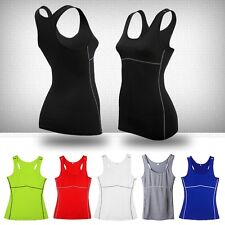 Women's  Sports Vest Wear Yoga Tank Tops Gym Running Casual Clothes S-XXL