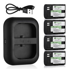LP-E6 Battery & USB Dual Port Charger For Canon EOS 7D 70D 6D 60D 5D Mark II III