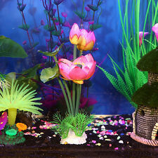 Beautiful Artificial Plastic Plant Lotu Flower for Aquarium Fish Tank Decoration