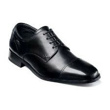 Florsheim Mens Shoes Welles Black  calfskin leather cushioned  Lace Up 18358-01