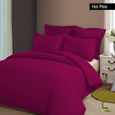 CLASSIC 1000TC 100% COTTON HOT PINK SOLID BEDDING SET CHOOSE YOUR ITEM & SIZE HS