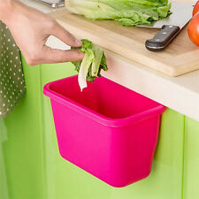 Creative Doors Hang Trash Baskets Desktop Box Garbage Kitchen Cabinet Storage EF