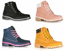 New Womens Casual Winter Lace up Ladies Walking Ankle Hiking Boot Shoe