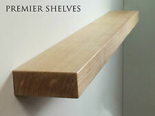 SOLID OAK FLOATING SHELF FIREPLACE MANTEL MANTLE BEAM WALL SHELVES 4 x 2.5 INCH
