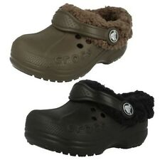 Childrens Unisex Warm Lined Croc Mules 'Blitzen Kids'