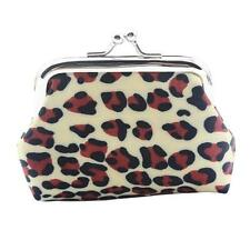 Women Lady Retro Vintage Leopard Small Wallet Hasp Coin Purse Clutch Bag Tote