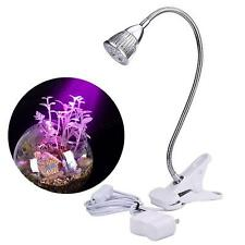Economize LED Hydroponic Plant Grow Light Clip Desk Flexible Lamp Indoor Garden