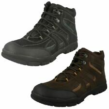 Mens Spot On Flat Casual Lace Up Walking Boot