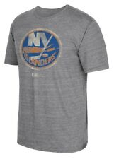 "New York Islanders CCM ""Retro Logo"" Distressed Premium Tri-Blend Gray T-Shirt"