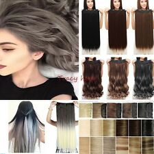 Real Natural Half Full Head Clip In Hair Extensions For Human Hair Extension H98