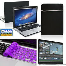 """4in1 Rubberized Hard Case+KB Cover + Soft Bag+LCD for Macbook Pro 13"""" A1425/1502"""