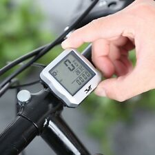 Wireless Bicycle Computer Bike LCD Cycling Speedometer Odometer Stopwatch Clock