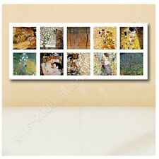Synthetic CANVAS +GIFT Apple Tree Kiss Embrace Collage 10 Gustav Klimt Paints