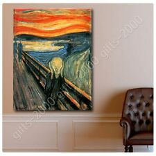 Synthetic CANVAS +GIFT The Scream Edvard Munch Prints Paints Painting Giclee