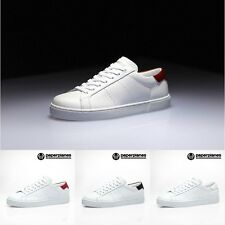 PP1353 Mens Lace Up Low-Top Sneakers Fashion Leather Court Skate Shoes Trainers