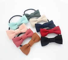 Handmade Simple Bow Tie Style Hair Bow Elastics Ponytail Holder