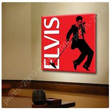 POSTER or STICKER +GIFT Decals Vinyl Elvis Presley Singing Red Alonline Designs