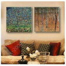POSTER or STICKER +GIFT Decals Vinyl Forest Apple Tree Gustav Klimt Set Of 2