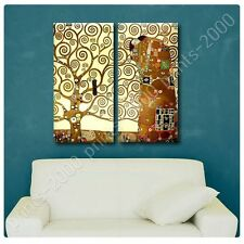 POSTER or STICKER +GIFT Decals Vinyl Tree Of Life Gustav Klimt 2 Panels