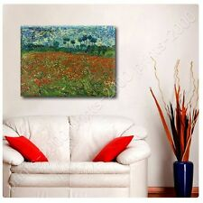 POSTER or STICKER +GIFT Decals Vinyl Poppies Field Vincent Van Gogh Posters
