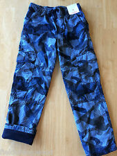 NWT Gymboree Boys Pull on Jersey lined Athletic cargo Pants 5, 6 Ski Patrol
