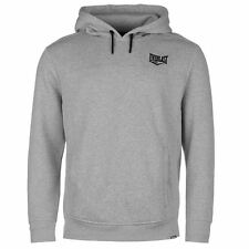 MENS GREY MARL EVERLAST BOXING GYM HOODIE HOODY JUMPER SWEATSHIRT JUMPER TOP