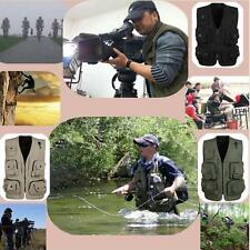 Multi Pockets Jacket Mesh Vest Costume Waistcoat Fly Fishing Hunting Journalist