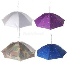 Outdoor Fishing Camping Hiking Golf Folding Umbrella Hat Head Cap Brolly Camo