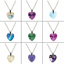 HEART CRYSTAL 6228 STERLING SILVER NECKLACE-PENDANT made with SWAROVSKI ELEMENTS