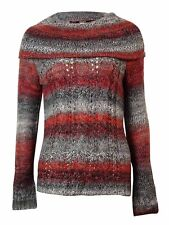 kensie Women's Gradient Cowl Neck Cable Knit Sweater