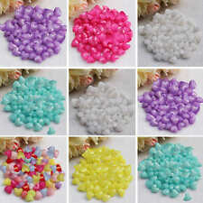 50pcs Acrylic Heart Loose Spacer Bead Charm Jewelry Finding DIY Craft Wholesale