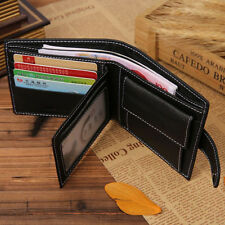 Men Genuine Leather Wallet Money Clip ID Credit Card Holder Coin Zipper Purse