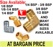 BRASS 90 DEGREE FITTING MALE ELBOW FITTING BSP FITTING L ADAPTER 1/8 1/4 3/8 1/2
