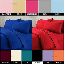 PERCALE NON IRON FITTED SHEETS PLAIN DYED POLYCOTTN SINGLE DOUBLE KING S.KING