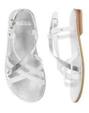 Gymboree Spring Dressy SZ 9 10 11 12 13 1 White Silver Strap Sandal shoes NEW