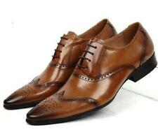 Mens Brogue Wing Tip Shoes Lace Up Leather Formal Dress Oxfords US Size 5-10.5