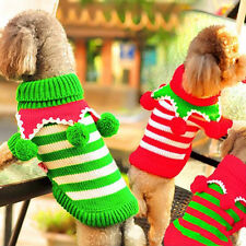 Funny Winter Cat Dog Clothes Sweater Puppy Dog Christmas Jumper Knitwear Sweater