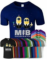 Minions In Black Kids Funny Despicable Me Top BirthDay Gift T-Shirt