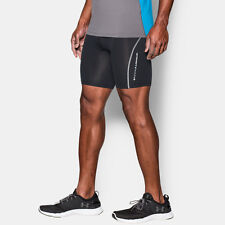 Under Armour Coolswitch Mens Black Compression Running Shorts Pants Bottoms