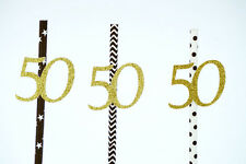 50th Birthday Party Straws Accessories - Fifty Party Decorations
