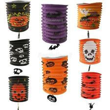 Halloween Creative Fold Paper Lantern Skull Pumpkin Bat Witch DIY Party Decor
