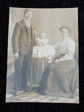 EDWARDIAN BABY FAMILY PORTRAIT POSTCARD PHOTO SOCIAL HISTORY